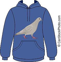 Walking dove unisex hoodie - Going gray pigeon hoodie...