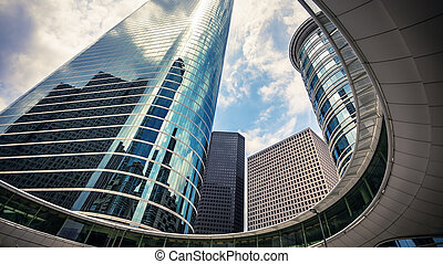Skyscrapers in Downtown Houston, Texas USA