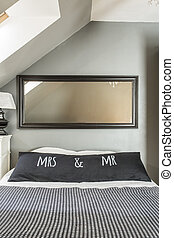 Mr. and mrs. sohpisticated bedroom