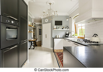 Keep cooking in new style - New style spacious kitchen with...