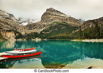 Yoho National Park - Lake Ohara, Yohu National Park with...