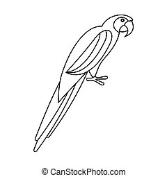 Parrot icon, outline style - Parrot icon in outline style...