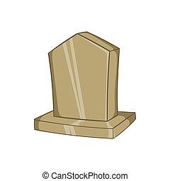 Sepulchral monument icon, cartoon style