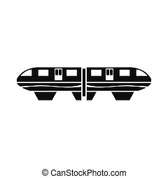 Monorail train icon, simple style - Monorail train icon in...