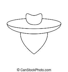 Argentine gaucho icon, outline style - Argentine gaucho icon...