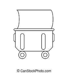 Industrial wheelie bin icon, outline style - Household or...