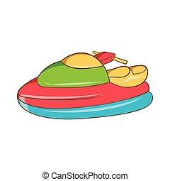 Jet ski icon, cartoon style - Jet ski icon in cartoon style...