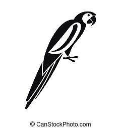 Parrot icon, simple style - Parrot icon in simple style...