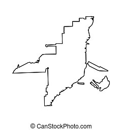 Florida map icon, outline style