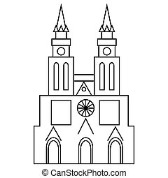 Basilica of Our Lady of Lujan icon, outline style
