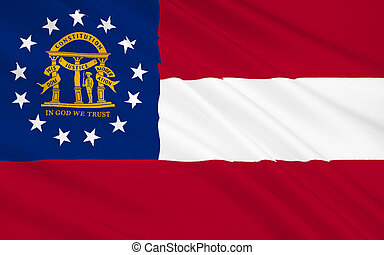 State Flag of Georgia - The national flag of the State of...