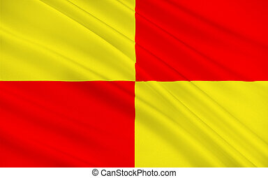 Flag of Tarbes, France - Flag of Tarbes is a commune in the...
