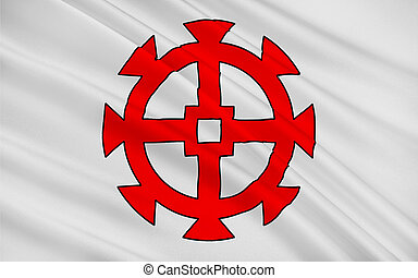 Flag of Mulhouse, France - Flag of Mulhouse is a city and...