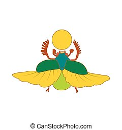 Egyptian scarab a symbol of the sun icon - Egyptian sacred...