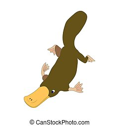 Platypus icon, cartoon style - Platypus icon in cartoon...