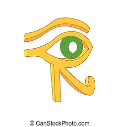Eye of Horus icon in cartoon style on a white background
