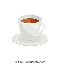 Cup of coffee icon, cartoon style - Cup of coffee icon in...