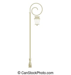 Paris street light icon, cartoon style - Paris street light...