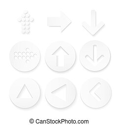 Arrow sign icon set