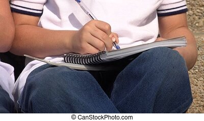 Boy Student With Notebook