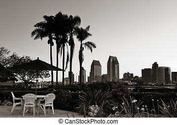 San Diego morning - San Diego dawn in early morning with...