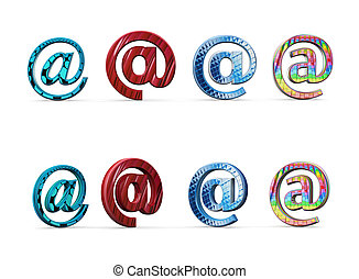 Email with style icon 3d illustration