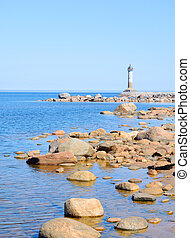 The lighthouse on the shore of Lake Ladoga - The lighthouse...