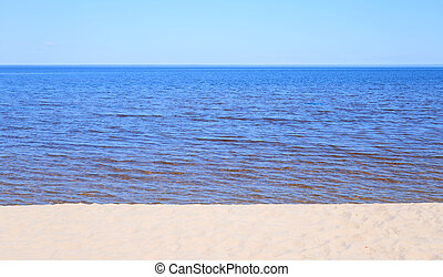 Ladoga lake by day - Ladoga lake at sunny day, the Karelian...