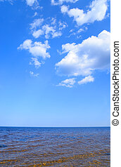 Ladoga lake by day. - Ladoga lake at sunny day, the Karelian...