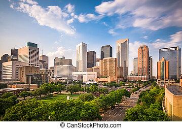 Houston Texas Skyline - Houston, Texas, USA downtown city...