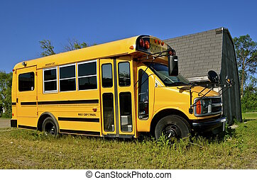 Small school bus - A small school bus for transporting up...