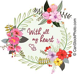 With all my heart. Stylish floral