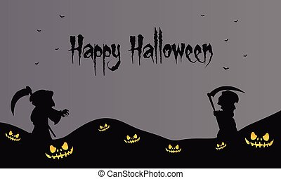 warlock halloween backgrounds scary vector art illustration