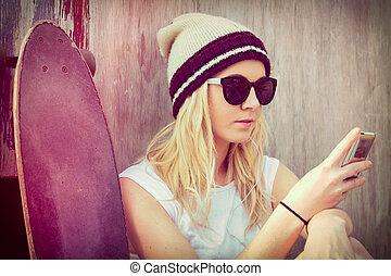 Skater Girl Phone