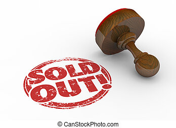 Sold Out Product Sellout Inventory Gone Stamp 3d...