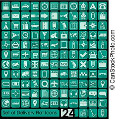 Set of delivery icons