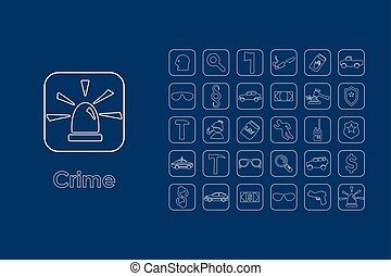 Set of crime simple icons - It is a set of crime simple web...