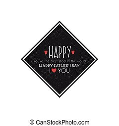 father day label - abstrac father day label on a white...