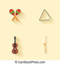 Abstract music instruments