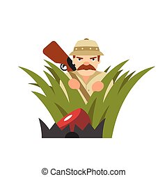 Hunter vector illustration on isolated background - Hunter...