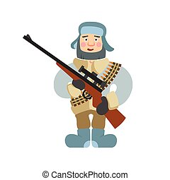 Sniper vector illustration on isolated background - Sniper...