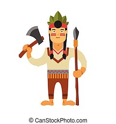 Injun vector illustration on isolated background - Injun...