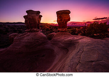 Hoodoos at Devils Garden - Devils Garden hoodoos after...
