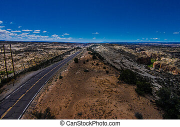 pedregulho,  byway,  12, panorâmico, rota,  Utah,  hogback,  escalante