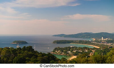 Phuket bay daytime time lapse video clip