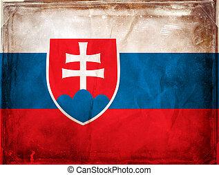Slovakia - Grunge flag series -  Slovakia