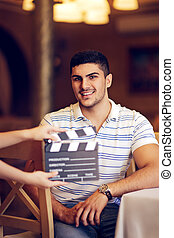Professional Actor Shooting - Portrait of a handsome man a...