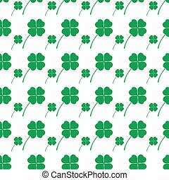 cloverleaf happy green leaf seamless background eps10