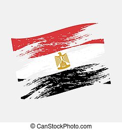 color egypt national flag grunge style eps10