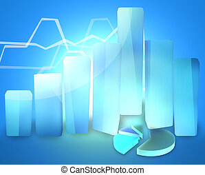 business chart success modern 3d render graphic design